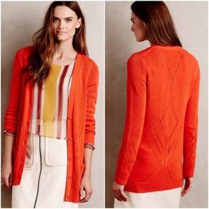 Anthropologie Moth Elin Cardigan in Poppy Red | S